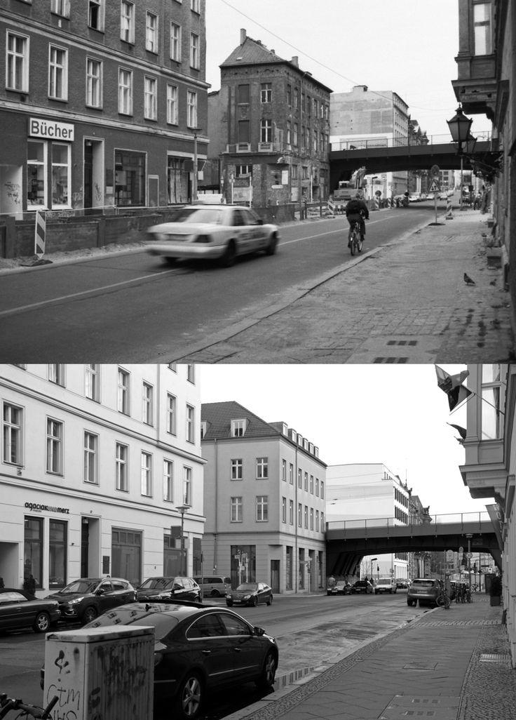 Luisenstraße in Mitte, 1999 und 2014