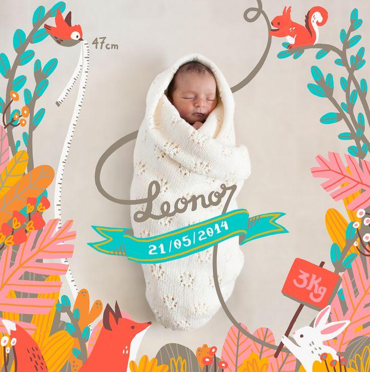 Wonderful Birth Announcement by Carolina Buzio