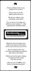 Ambleside Online- Charlotte Mason education; has 6 volumes of CM