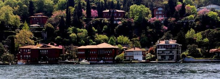 Houses on Bosphorus, Istanbul, Turkey