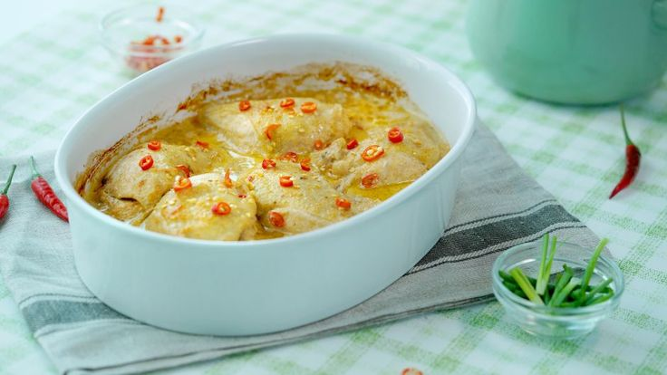 Creamy Coconut Baked Chicken   Asian Food Channel