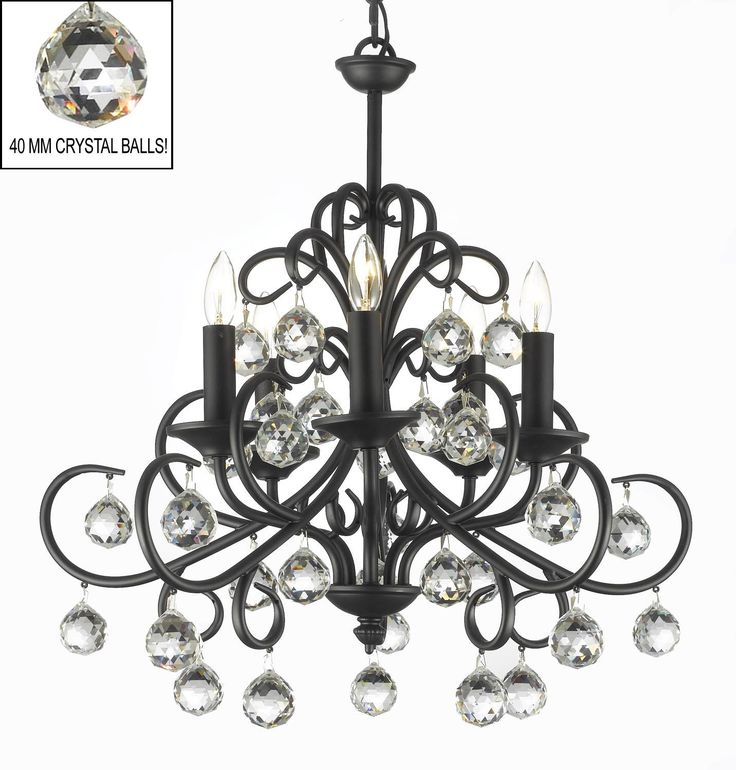 A7-586/5  Wrought Iron Chandelier Chandeliers, Crystal Chandelier, Crystal Chandeliers, Lighting