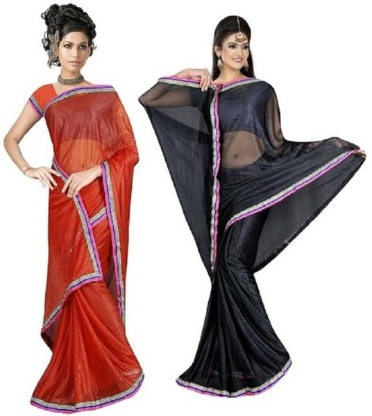 LadyIndia.com # Casual Saris, Exclusive Viscose Black Maroon Pack Of 2 Saree For Women -Sari, Printed Sarees, Casual Saris, Silk Saree, https://ladyindia.com/collections/ethnic-wear/products/exclusive-viscose-black-maroon-pack-of-2-saree-for-women-sari