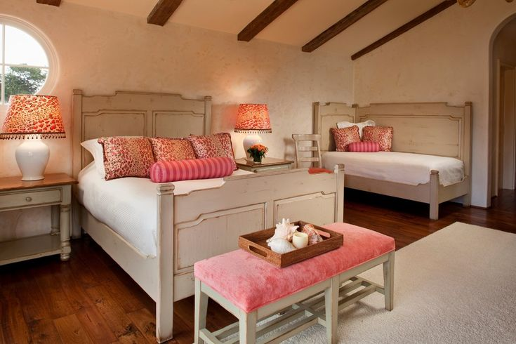 Sumptuous twin daybed in Bedroom Mediterranean with Trundle Bed next to Trundle Daybeds For Adults alongside Double Bed and In-law Suite