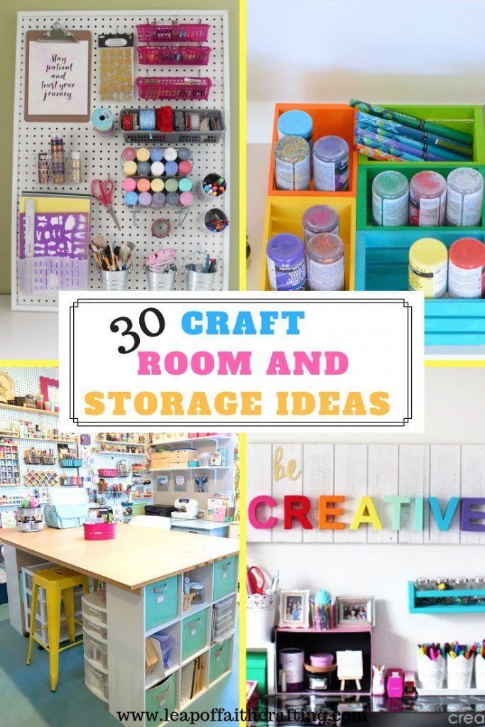 Organizing Craft Supplies 30 Craft Room Storage Ideas Leap Of
