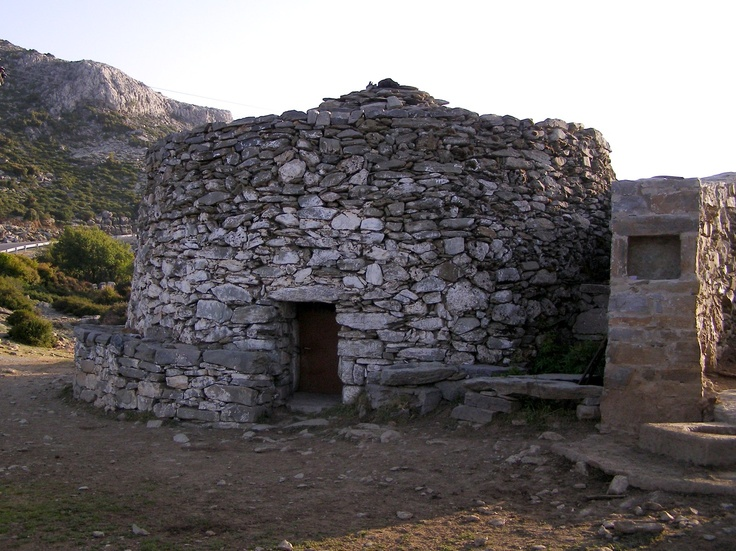 """Mitato"", traditional cretan stone  building where cheese is made"
