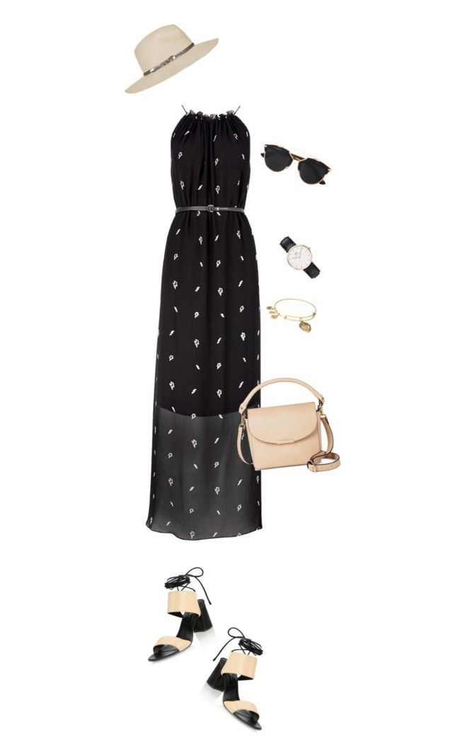 """Untitled #108"" by birdinthethyme on Polyvore featuring Karl Lagerfeld, 3.1 Phillip Lim, Topshop, DV, Alex and Ani, Christian Dior, Daniel Wellington, Summer, outfit and simple"