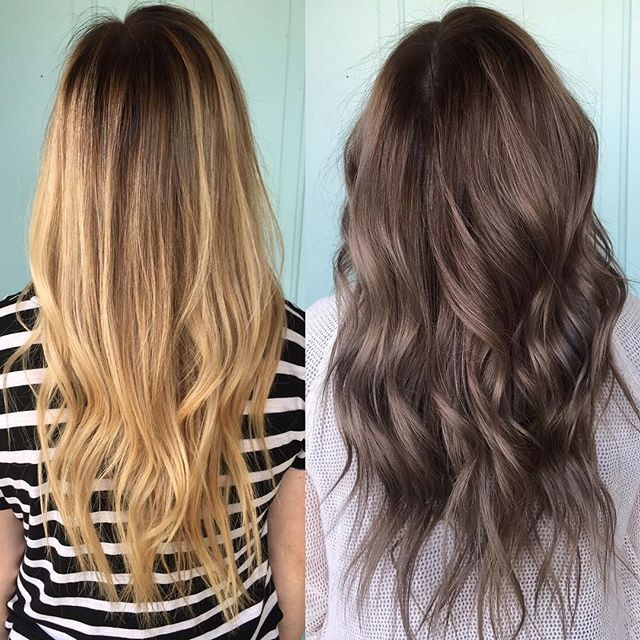 how to go back to natural hair color after highlights