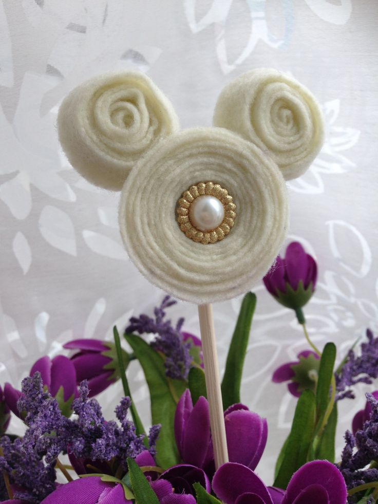 Disney Wedding Centerpiece Mickey Mouse Floral Embellishments Set of 5 by aTOUCHofDISNEY on Etsy https://www.etsy.com/listing/245553192/disney-wedding-centerpiece-mickey-mouse