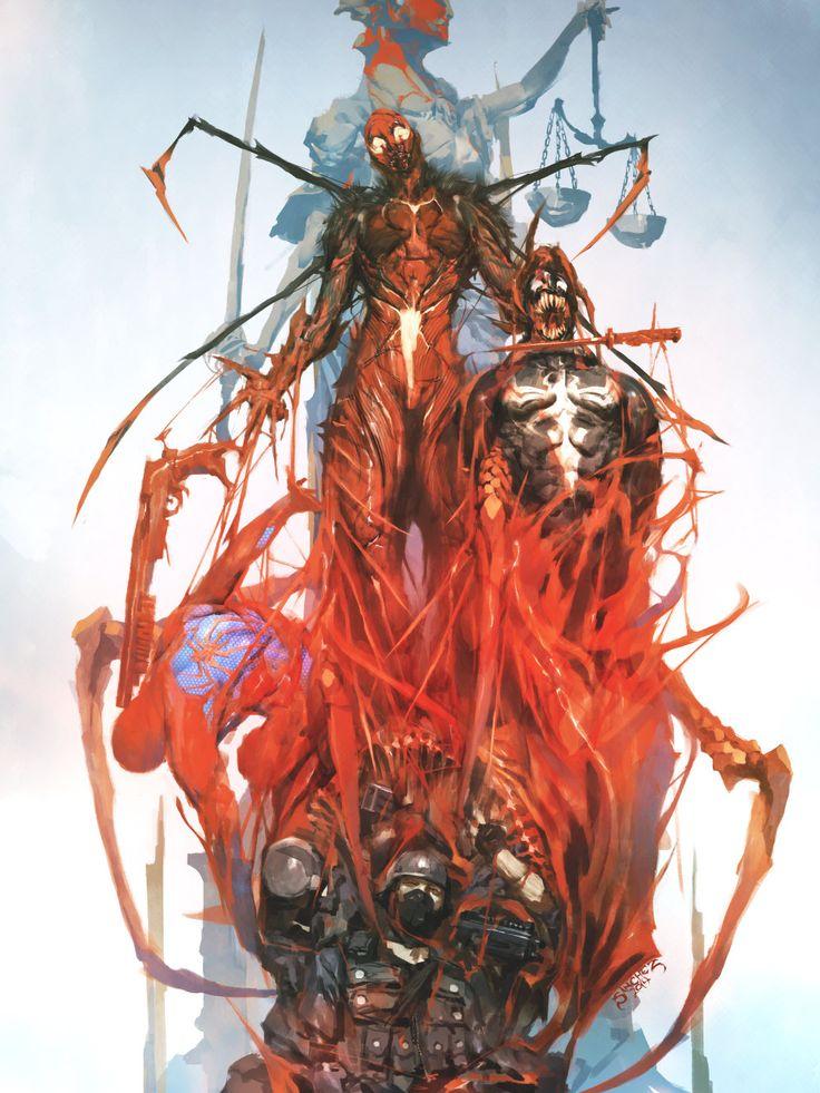 Carnage, Venom and Scarlet Spider by Reynan Sanchez