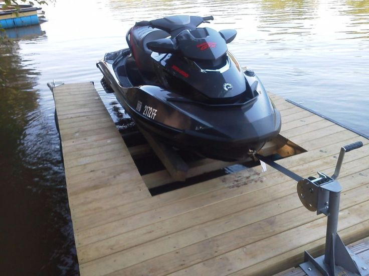 Diy Single Jet Ski Lift Dock Kit In 2019 Lake House