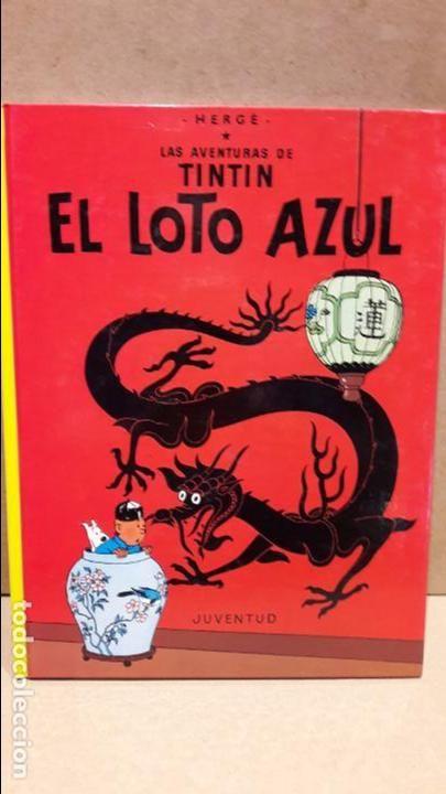LAS AVENTURAS DE TINTIN.  EL LOTO AZUL. ED / JUVENTUD. 14ª ED - 1993 / COMO NUEVO.
