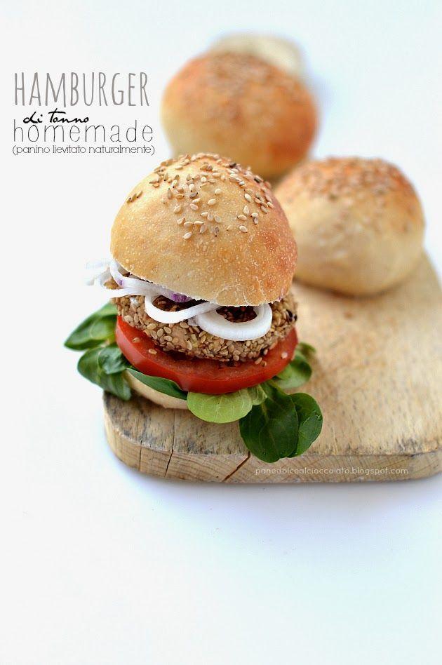 Hamburger di tonno Homemade con Panino lievitato naturalmente