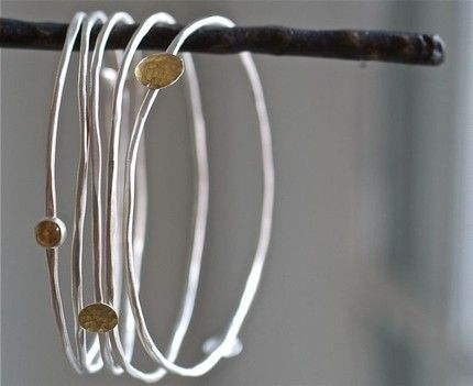 simple and pretty...: ardent sterling bangles ~ Kathi Roussel  A girl can never have too many bangles!                                                                                                                                                                                 More