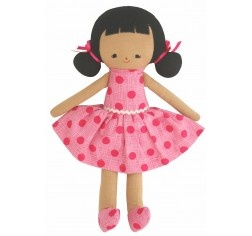 Audrey Doll with Fuschia Spots