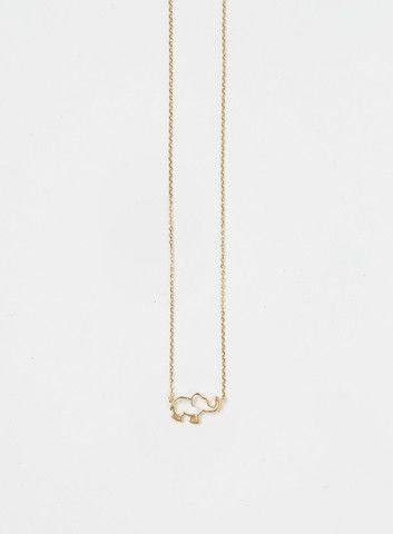 Ellie Elephant Gold Dainty Necklace