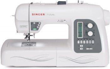Macchina per cucire Singer Futura XL-550 - Con 215 punti di cucitura, 125 ricami inclusi e grandi funzioni automatiche.
