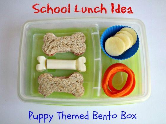 School Lunch Idea! Easy  Puppy Themed Bento Box #Dairy #KidsKids Recipe, Fun Lunches, Fun Food, Kids Lunches, Bento Ideas, Schools Lunches, Lunches Ideas, Snacks Ideas, Back To School