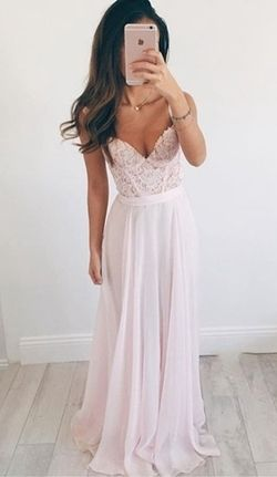 Spaghetti Straps Appliques Charming A-Line Prom Dresses,Long Evening Dresses,Prom Dresses On Sale, T199 - 428