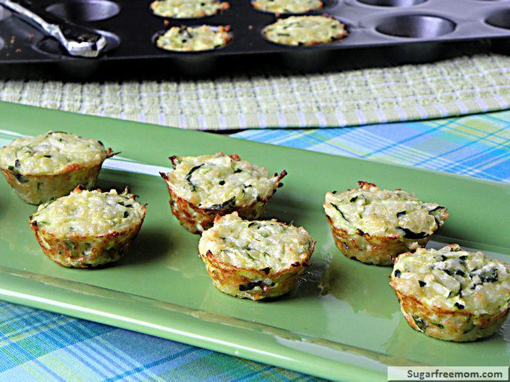 Mini Quinoa Zucchini Cheese Bites: gluten free, 27 calories!
