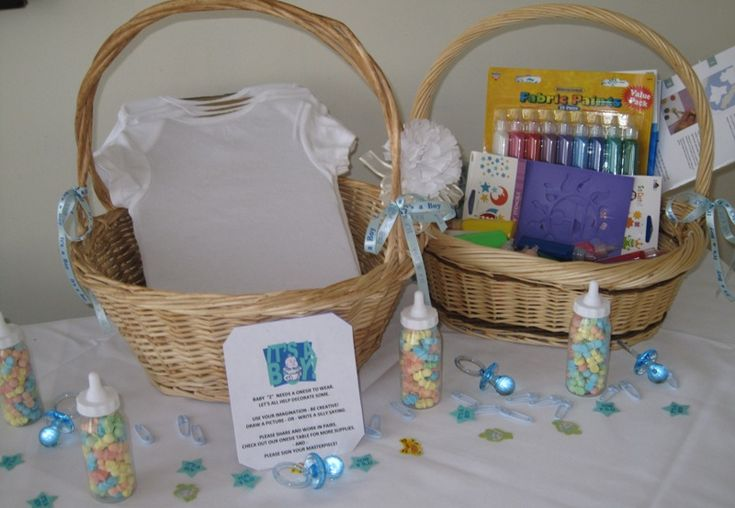 Onesies decorating supplies table