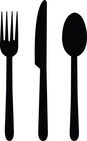 Tableware Silhouettes - Idea for how to set the table quiet book page