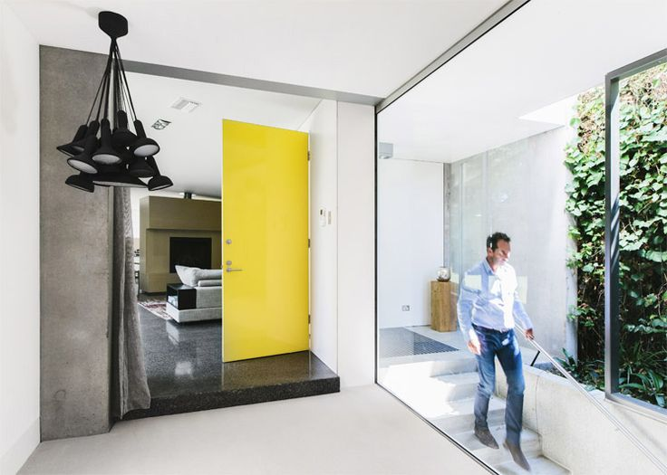Modern Family | Nicholas & Tracy Bufé | Est Magazine. Yellow door