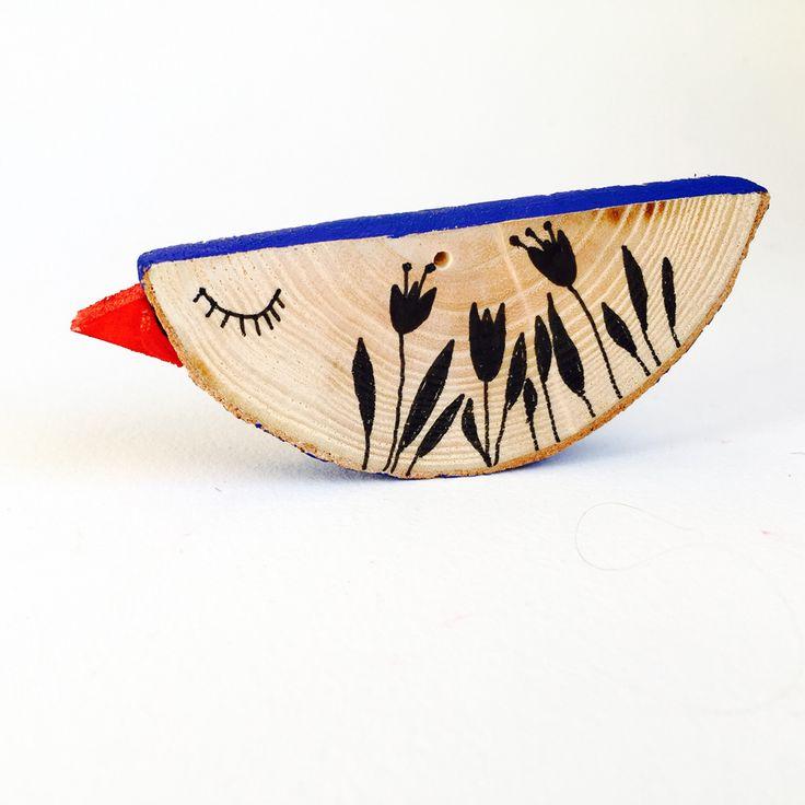 9 oiseaux pour Chantal   wooden bird hanger