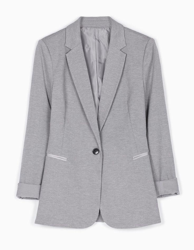 Трикотажный пиджак - Куртки И Жакеты   Stradivarius Россия