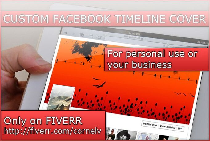 cornelv: create a custom Facebook timeline cover for your page for $5, on fiverr.com