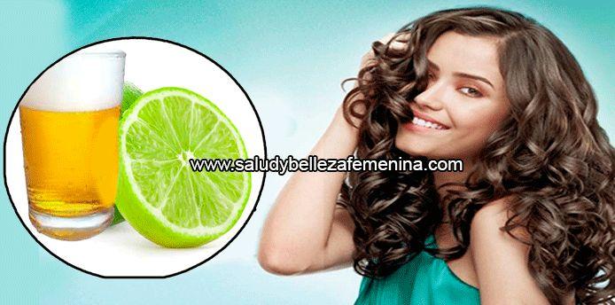 Cerveza y limón para  rizar el cabello