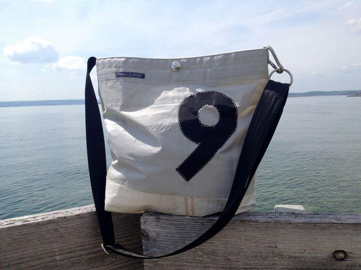 Umhängetaschen - Segel/Tasche/Segeltuchtasche/Segeltasche o-stripe - ein Designerstück von RoughElement bei DaWanda