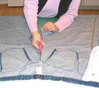 denim quilts patterns - Make a recycled jean denim quilt, see how I did it