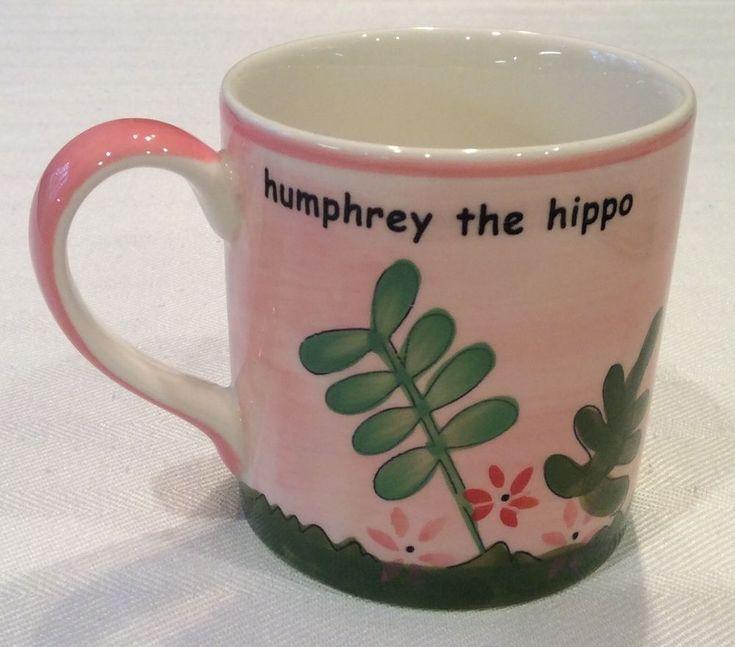 """RARE WHITTARD OF CHELSEA UK HANDPAINTED  """"HUMPHREY THE HIPPO"""" CHILDS MUG"""