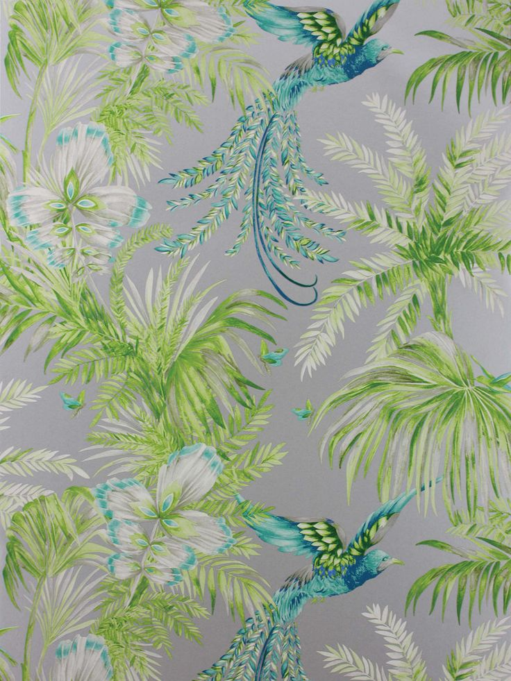 Matthew Williamson Bird of Paradise Wallpaper, Turquoise