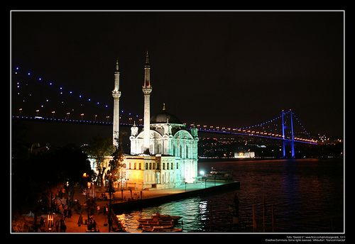 Ortaköy Mosque: Going on a Bosphorus Dinner Cruise? Look Out for These Famous Landmarks! #Dolmabahçe Palace #Bosphorus #Bosphoruscruise #Istanbul #travel