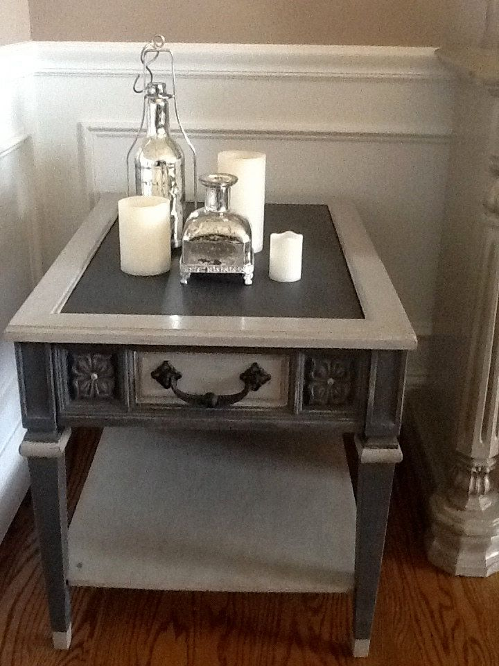 2 Tone Chalk Painted End Tables Google Search Painted