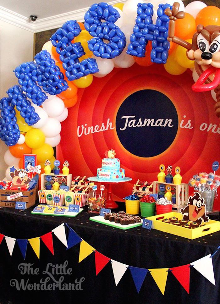 Looney Tunes Tazmanian Devil themed birthday party via Kara's Party Ideas KarasPartyIdeas.com #looneytunestazmaniandevilparty (15)