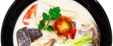 Thai Kyllingsuppe med sopp Tom Kha Gai