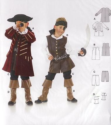 Burda - 2452 Piraat | Naaipatronen.nl | zelfmaakmode patroon online