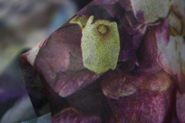 Water Rose Garden Silk Chiffon - Silk Chiffon - Tessuti Fabrics - Online Fabric Store - Cotton, Linen, Silk, Bridal & more