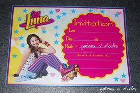 Carte d'invitation anniversaire Soy Luna