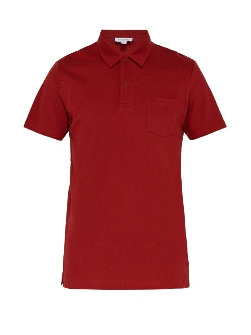 a1192eb11 SUNSPEL SUNSPEL - RIVIERA COTTON PIQUÉ POLO SHIRT - MENS - RED.  sunspel   cloth