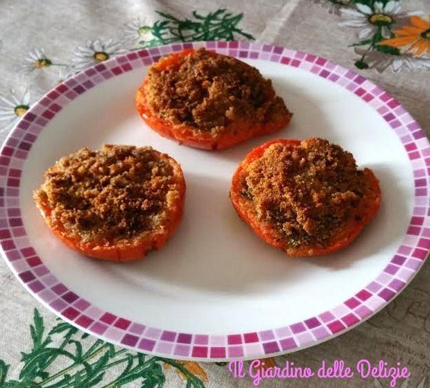 Pomodori+gratinati+cottura+al+forno
