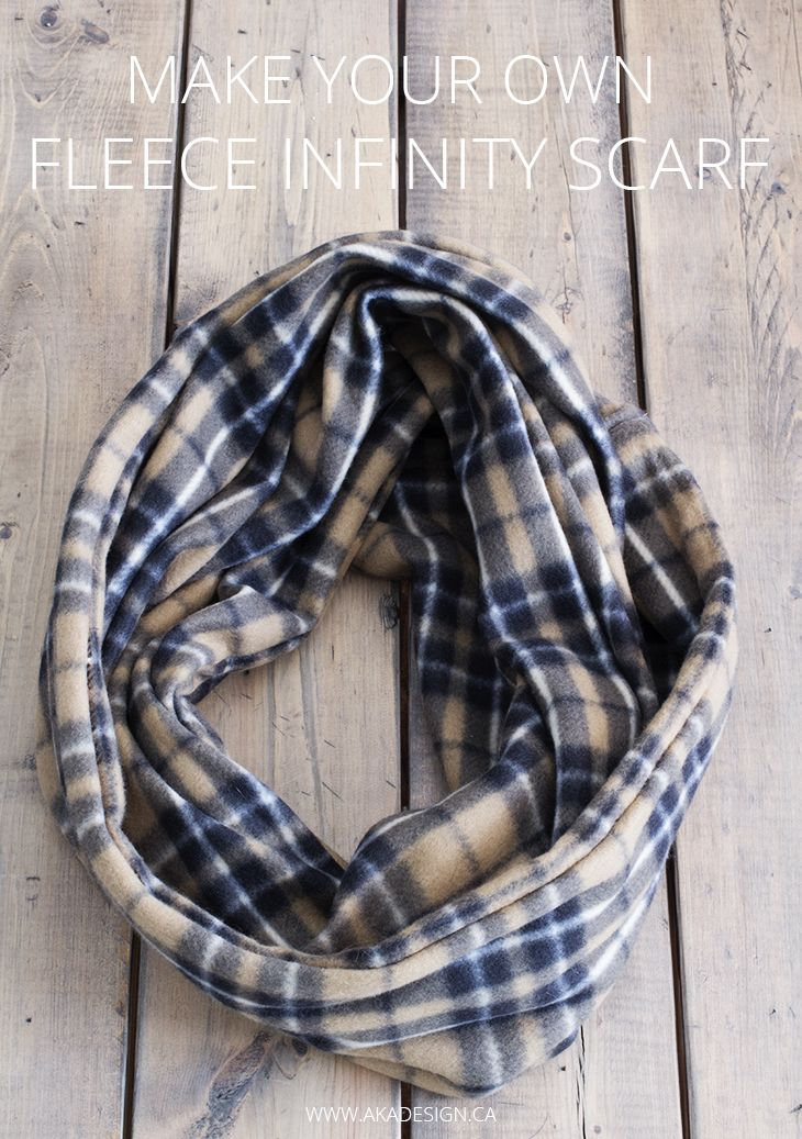 Make Your Own Fleece Infinity Scarf                                                                                                                                                                                 More