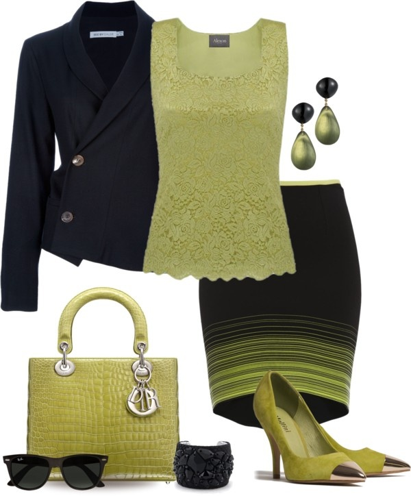 """Neon Stripes for Spring"" by yasminasdream ❤ liked on Polyvore"