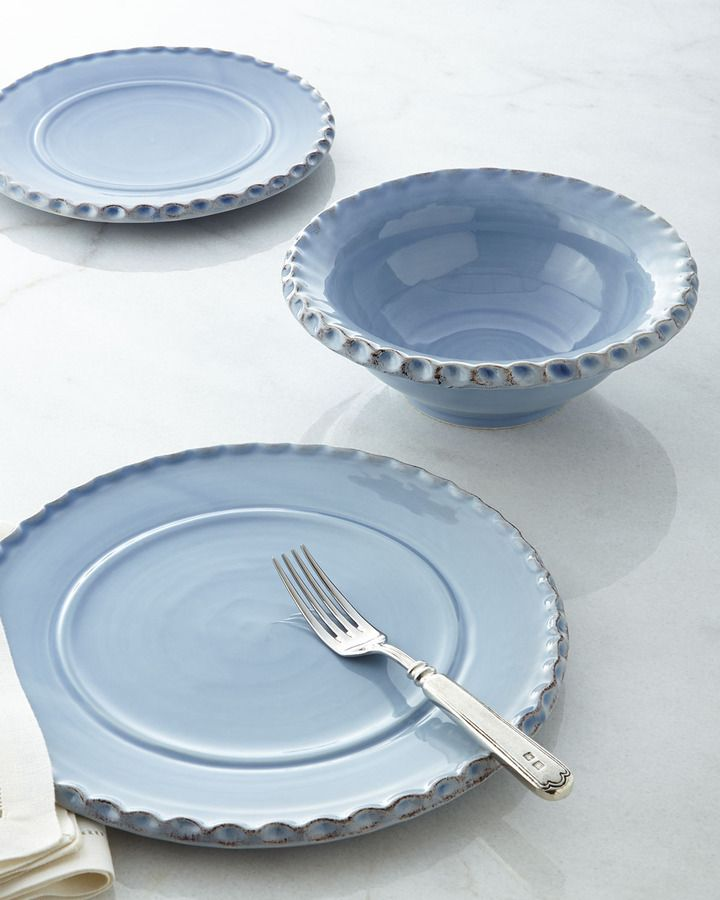 Love this color! Pimpinelli Chambray Rope-Motif Dinnerware on shopstyle.com