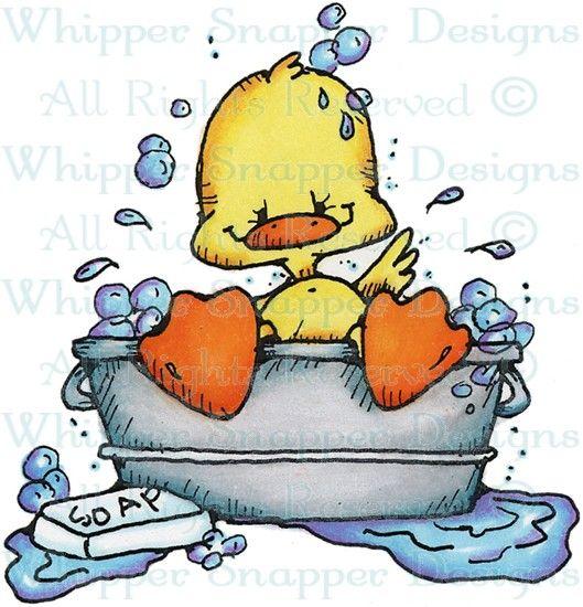Duck Bath - Ducks - Animals - Rubber Stamps - Shop