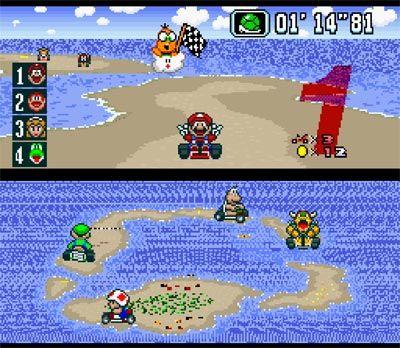 Super Nintendo Mario Kart!