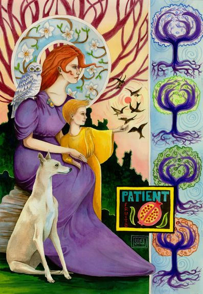 """""""Fruit of Patience"""" watercolor ©Sara Drescher.  Read the meaning and order prints of this painting on the website: http://www.saradrescher.com/series/fruit-of-the-spirit-series/"""